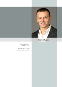 Titelblatt Bewerbung